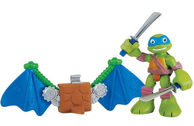 Playmates Фигурка Черепашки-ниндзя - Лео с планером, 6 см., серия Half Shell Hero