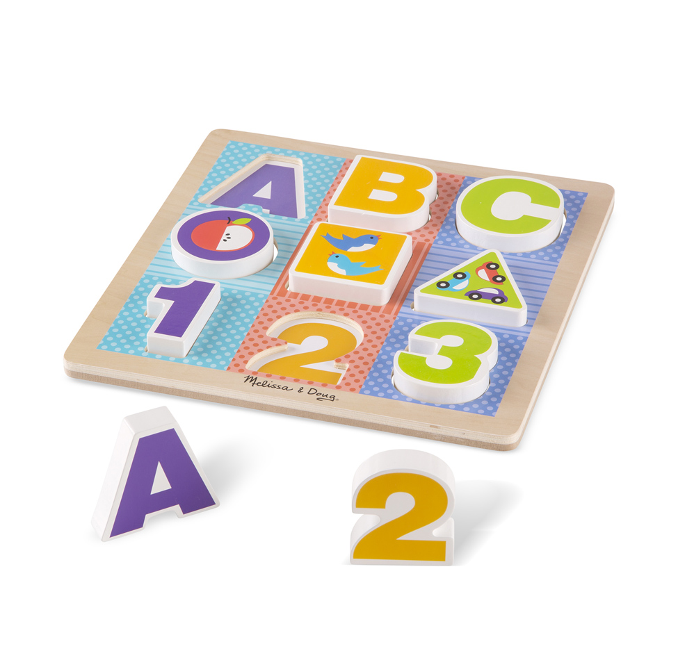 Купить Набор из серии Мои первые пазлы - Буквы и цифры, Melissa&Doug