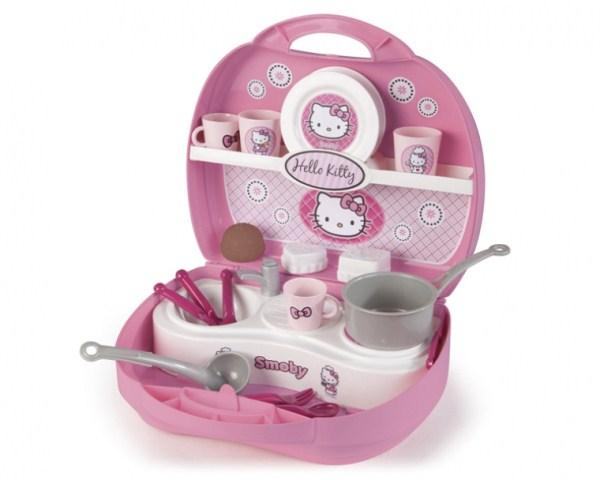 Мини-кухня Hello Kitty в чемоданчикеДетские игровые кухни<br>Мини-кухня Hello Kitty в чемоданчике<br>