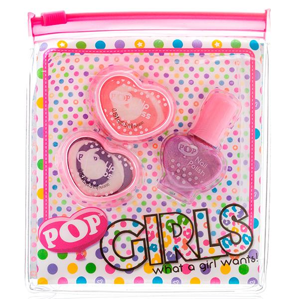 Набор детской декоративной косметики для губ и ногтей из серии PopЮная модница, салон красоты<br>Набор детской декоративной косметики для губ и ногтей из серии Pop<br>