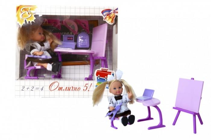 Кукла Еви школьница с партой и другими аксессуарами, 2 видаКуклы Еви<br>Кукла Еви школьница с партой и другими аксессуарами, 2 вида<br>