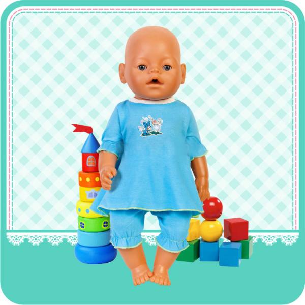 Комплект одежды для куклы ростом 40-42 см — платье и бриджиОдежда для кукол<br>Комплект одежды для куклы ростом 40-42 см — платье и бриджи<br>