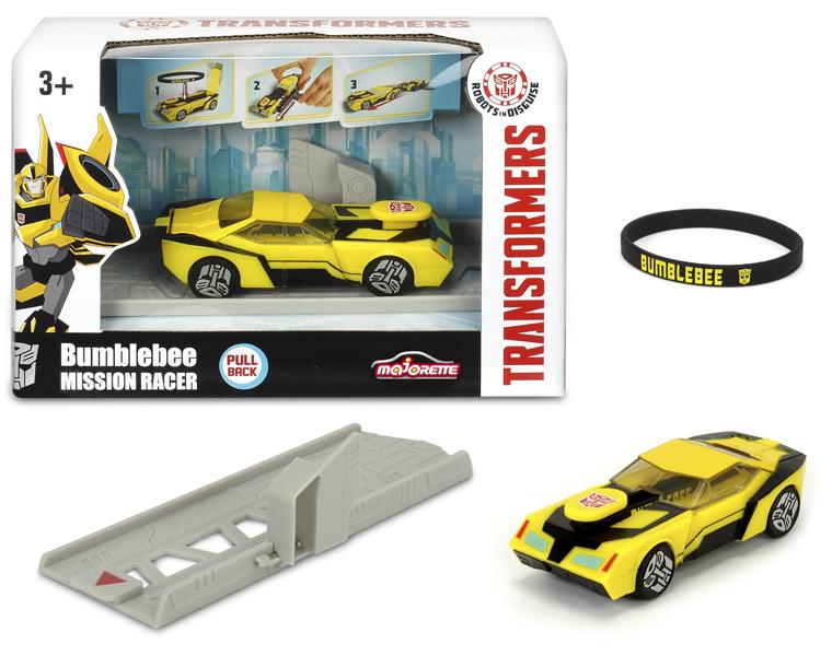 Машинка Bumblebee из серии Трансформеры, с запуском и браслетом, 11 см.Игрушки трансформеры<br>Машинка Bumblebee из серии Трансформеры, с запуском и браслетом, 11 см.<br>