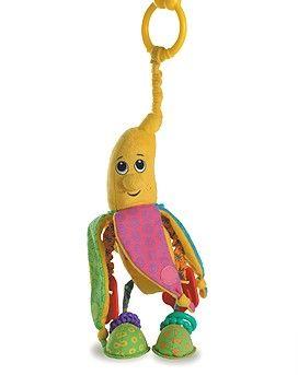 """Волшебный Бананчик Анна, серия Друзья фруктыДетские погремушки и подвесные игрушки на кроватку<br>Подвесная мягкая игрушка с множеством сюрпризов: мягкий банан, с которого можно снять кожуру из шуршащей ткани (4 """"лепестка"""" на липучках, о...<br>"""