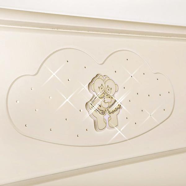 Аппликация для пеленального комода Bagnetto Chaton, цвет – слоновая костьДекор и хранение<br>Аппликация для пеленального комода Bagnetto Chaton, цвет – слоновая кость<br>