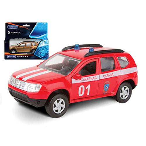 Машинка Renault Duster - Пожарная охрана, 1:38Пожарная техника, машины<br>Машинка Renault Duster - Пожарная охрана, 1:38<br>