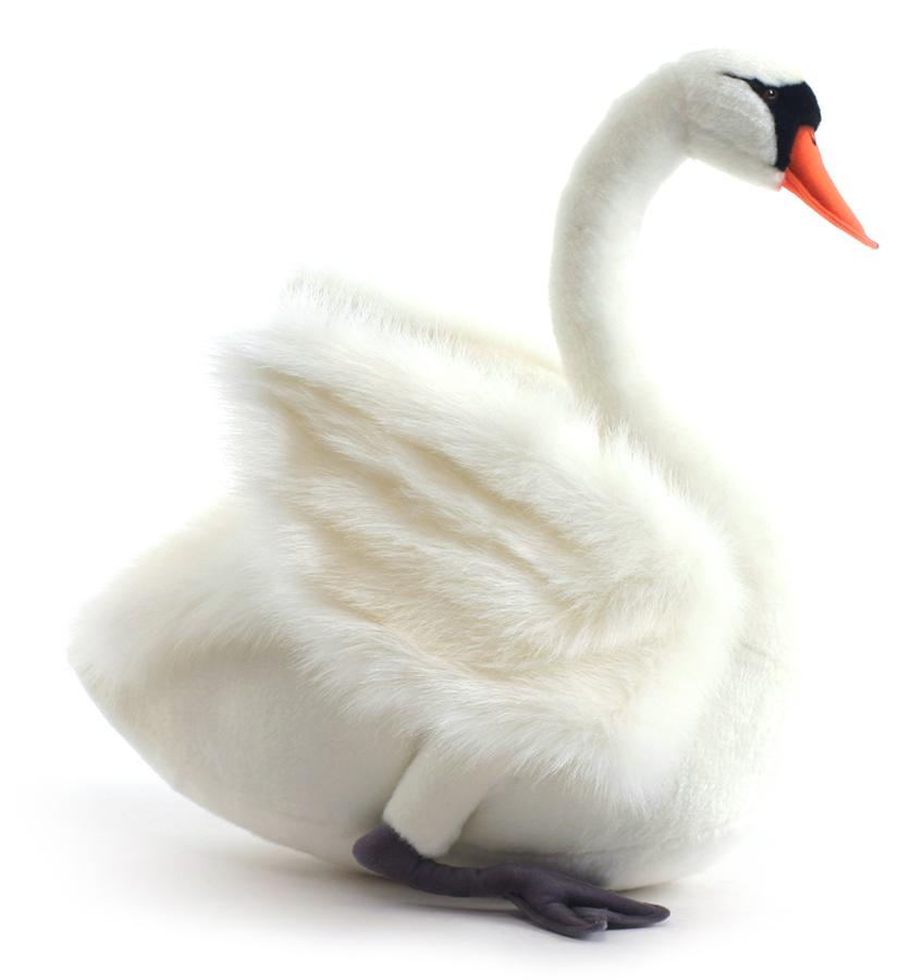 Мягкая игрушка – Лебедь белый, 45 см фото