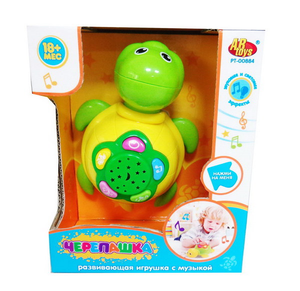 Развивающая игрушка - Черепашка, свет и звукМузыкальные ночники и проекторы<br>Развивающая игрушка - Черепашка, свет и звук<br>