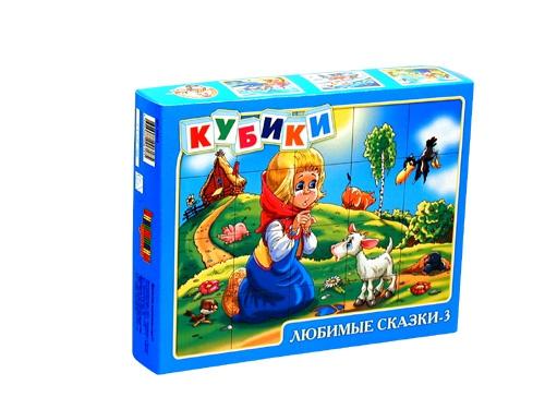 «Любимые сказки-3» – набор из 20 кубиковКубики<br>«Любимые сказки-3» – набор из 20 кубиков<br>