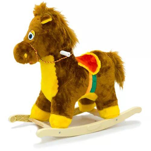 Меховая качалка. Лошадь - Детские кресла-качалки, артикул: 157391