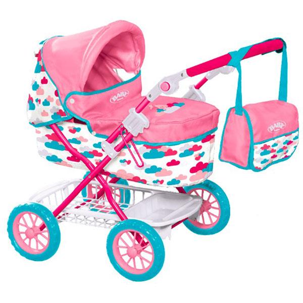 Коляска делюкс из серии Baby born с сумкой, модель 2017 годаКоляски для кукол<br>Коляска делюкс из серии Baby born с сумкой, модель 2017 года<br>