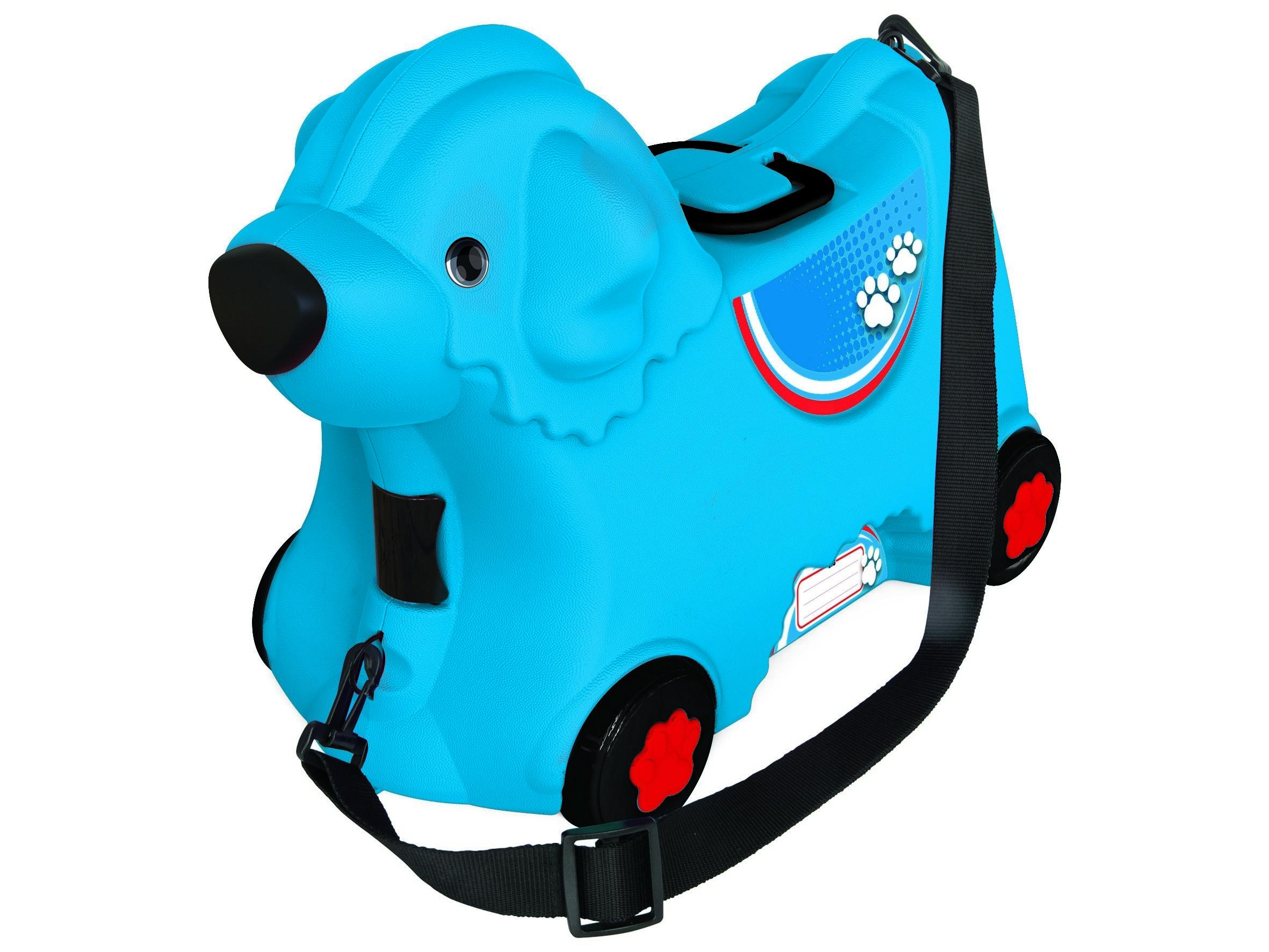 Детский чемодан на колесиках, синий - Чемоданы для путешествий, артикул: 161195