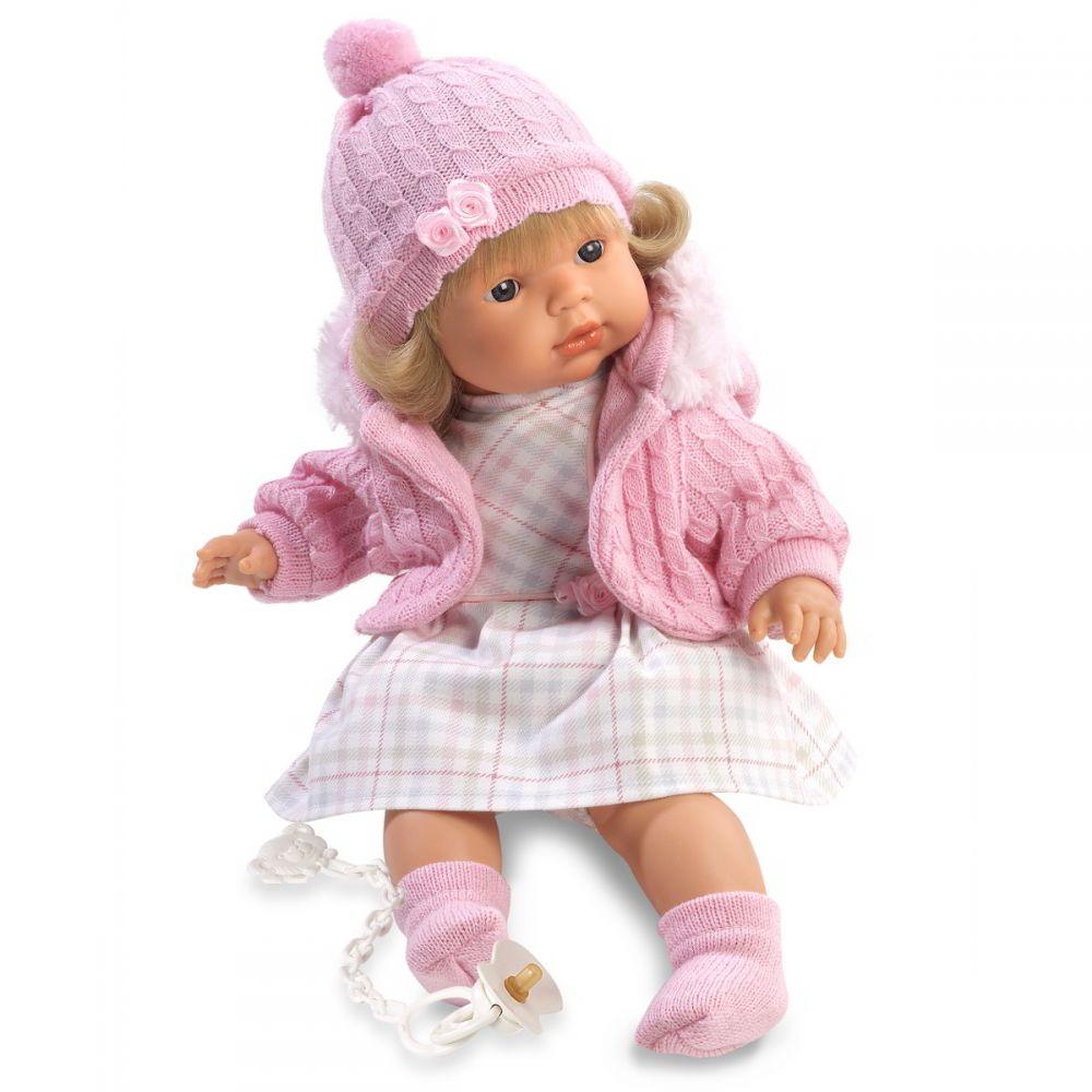 Кукла Лидия в клетчатом платье, 38 см.Испанские куклы Llorens Juan, S.L.<br>Кукла Лидия в клетчатом платье, 38 см.<br>