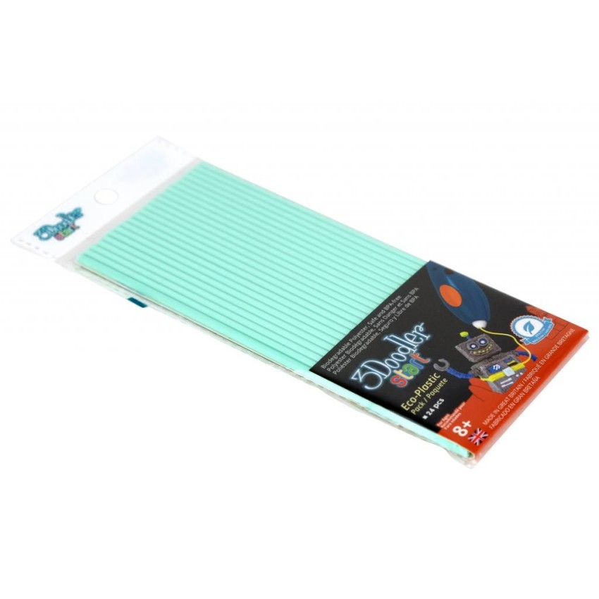 Эко-пластик к 3D-ручке 3Doodler Start, мятный - Детский 3D принтер QIXELS, артикул: 173760