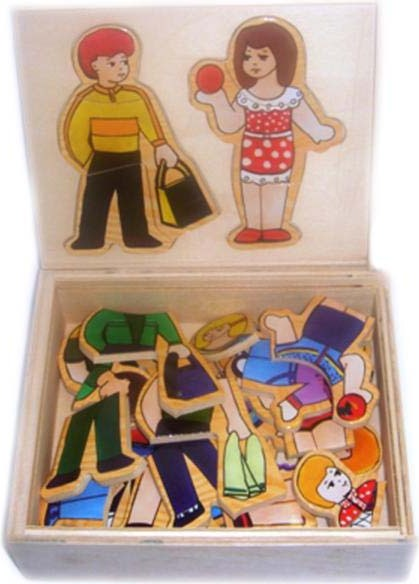 Набор одень куклу в коробке - Мальчик и девочка 2Рамки и паззлы<br>Набор одень куклу в коробке - Мальчик и девочка 2<br>