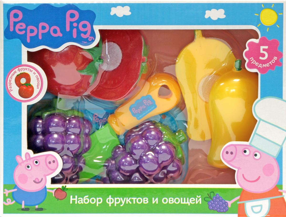 Игровой набор фруктов и овощей – Peppa, 5 предметовАксессуары и техника для детской кухни<br>Игровой набор фруктов и овощей – Peppa, 5 предметов<br>