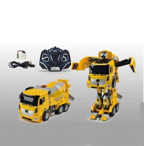 Робот на р/у, трансформируется в бетономешалку, со светом и звукомРоботы на радиоуправлении<br>Робот на р/у, трансформируется в бетономешалку, со светом и звуком<br>
