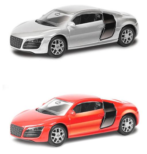 Купить Машина металлическая Audi R8 V10, 1:64, 2 цвета – серебристый или красный, RMZ City