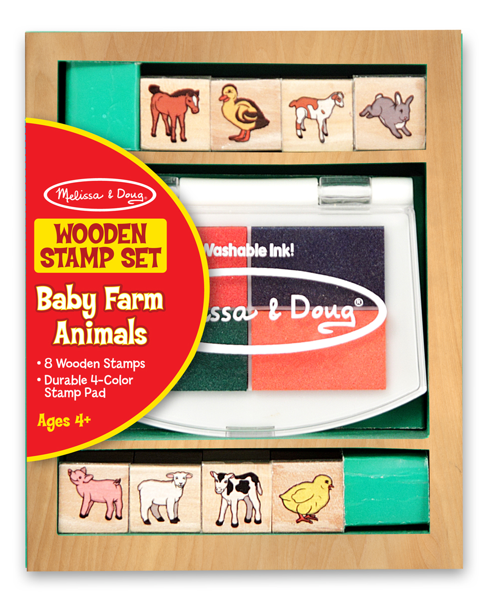 Купить Набор печатей «Животные на ферме» из серии Творчество , Melissa&Doug