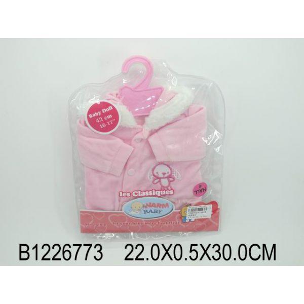 Комплект одежды для куклы, куртка с капюшоном, розовая