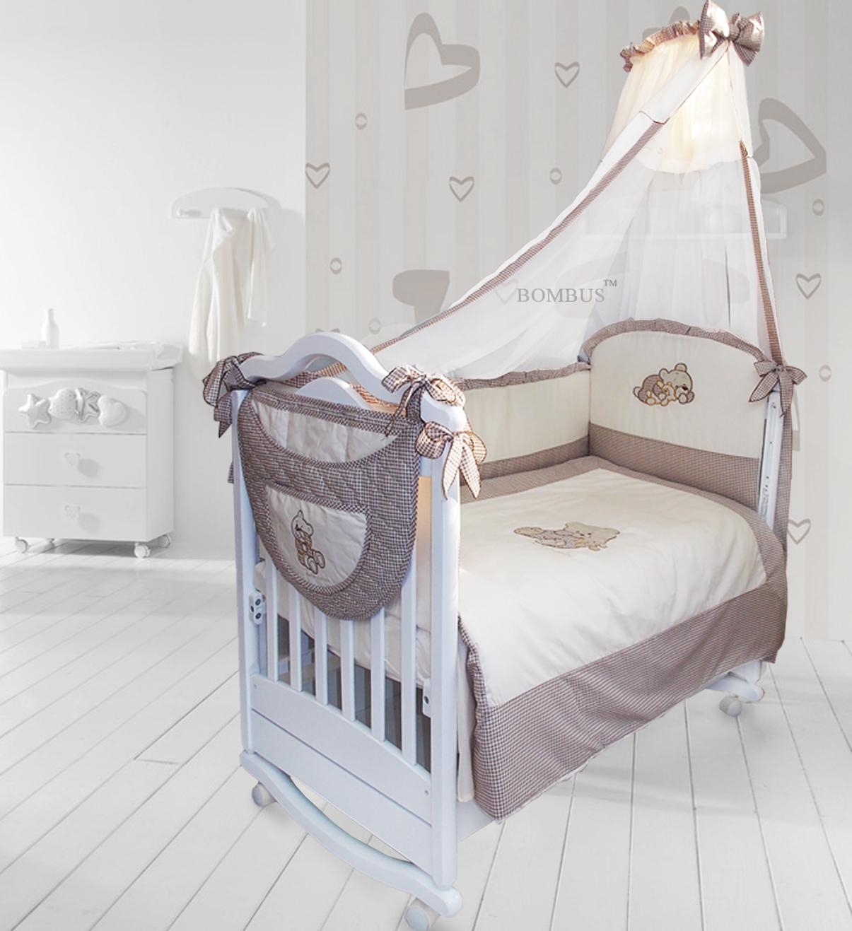 Комплект в кроватку - Мими, 7 предметовДетское постельное белье<br>Комплект в кроватку - Мими, 7 предметов<br>