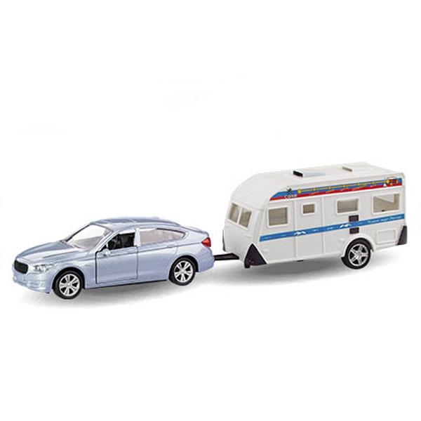 Машинка металлическая Bavaria Gran Turismo с домом на колёсах, гражданская, 1:36Трейлеры<br>Машинка металлическая Bavaria Gran Turismo с домом на колёсах, гражданская, 1:36<br>