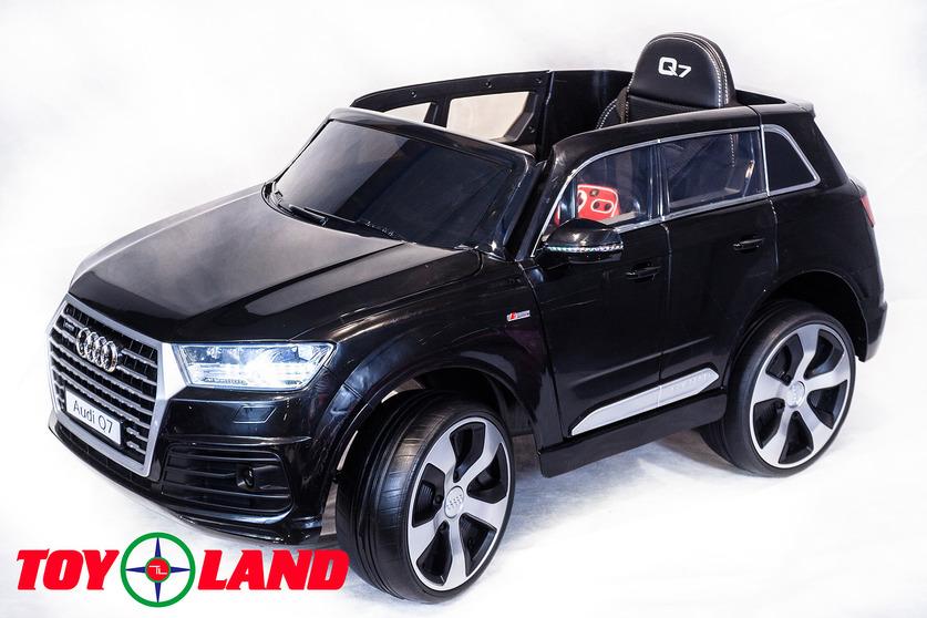 Электромобиль Audi Q7 черныйЭлектромобили, детские машины на аккумуляторе<br>Электромобиль Audi Q7 черный<br>
