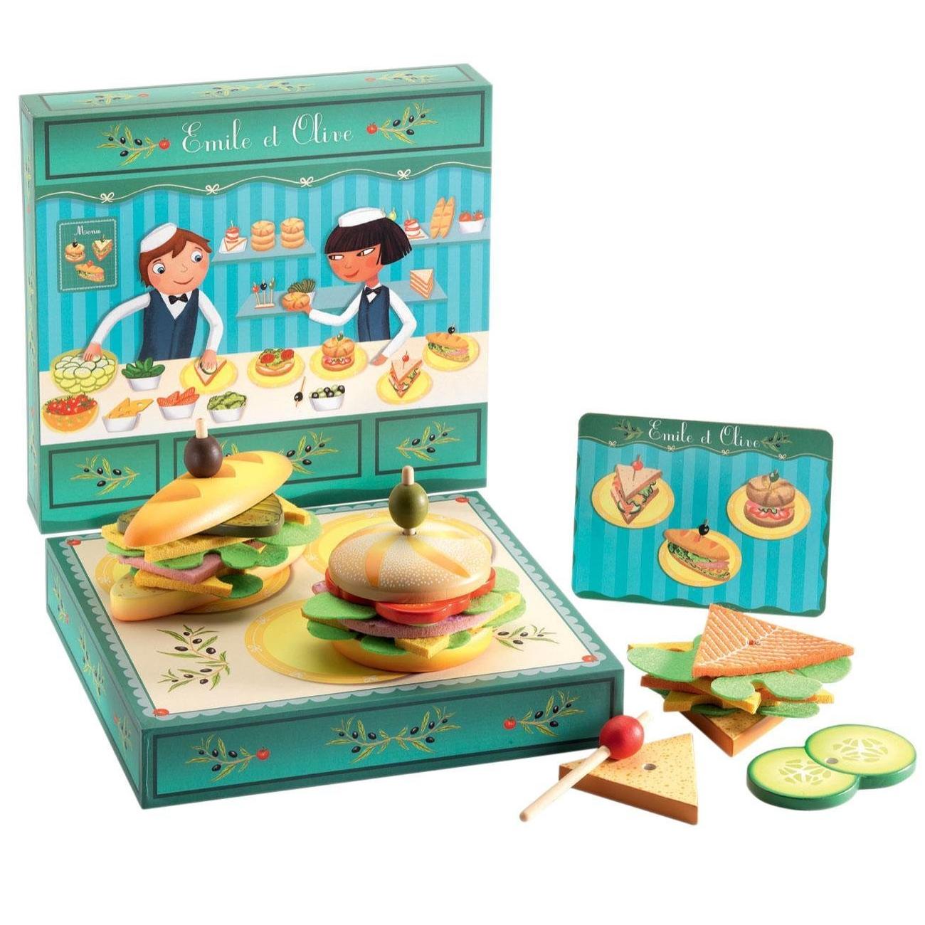 Игрушечные Сэндвичи от Эмиля и Олив - Аксессуары и техника для детской кухни, артикул: 167658