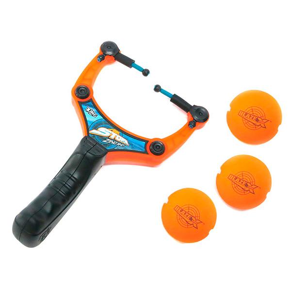 Купить Рогатка с 3 мягкими шариками, ZING Air Toys