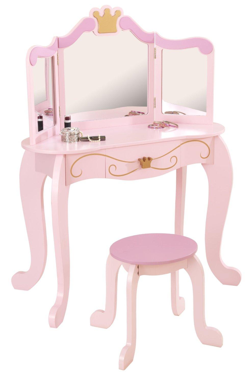 Туалетный столик-трельяж с зеркалом для девочки Принцесса Princess Vanity & Stool - Юная модница, салон красоты, артикул: 160294
