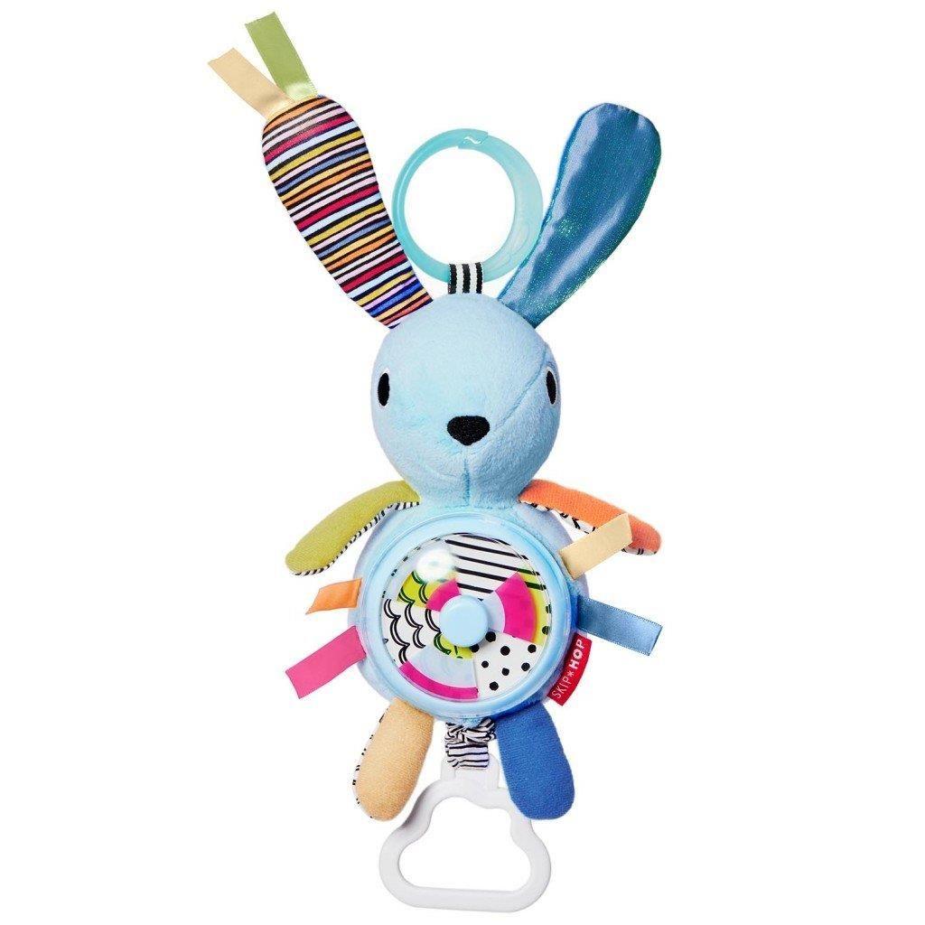 Развивающая игрушка-подвеска - ЗайчонокРазвивающая дуга. Игрушки на коляску и кроватку<br>Развивающая игрушка-подвеска - Зайчонок<br>