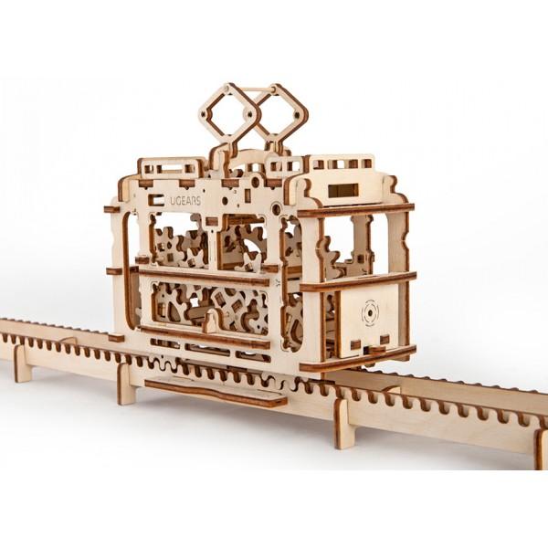 Трамвай с рельсами - Деревянный конструктор, артикул: 157080