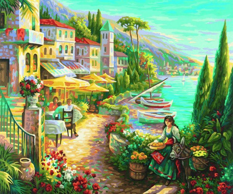 Белла Италия, 50х60 см. - Раскраски по номерам Schipper, артикул: 9194