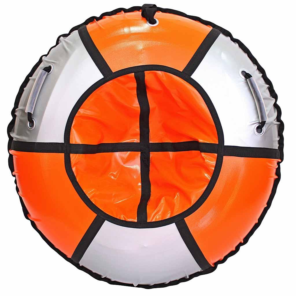 Санки надувные - Тюбинг, Практик, серо-оранжевый, диаметр 105Ватрушки и ледянки<br>Санки надувные - Тюбинг, Практик, серо-оранжевый, диаметр 105<br>
