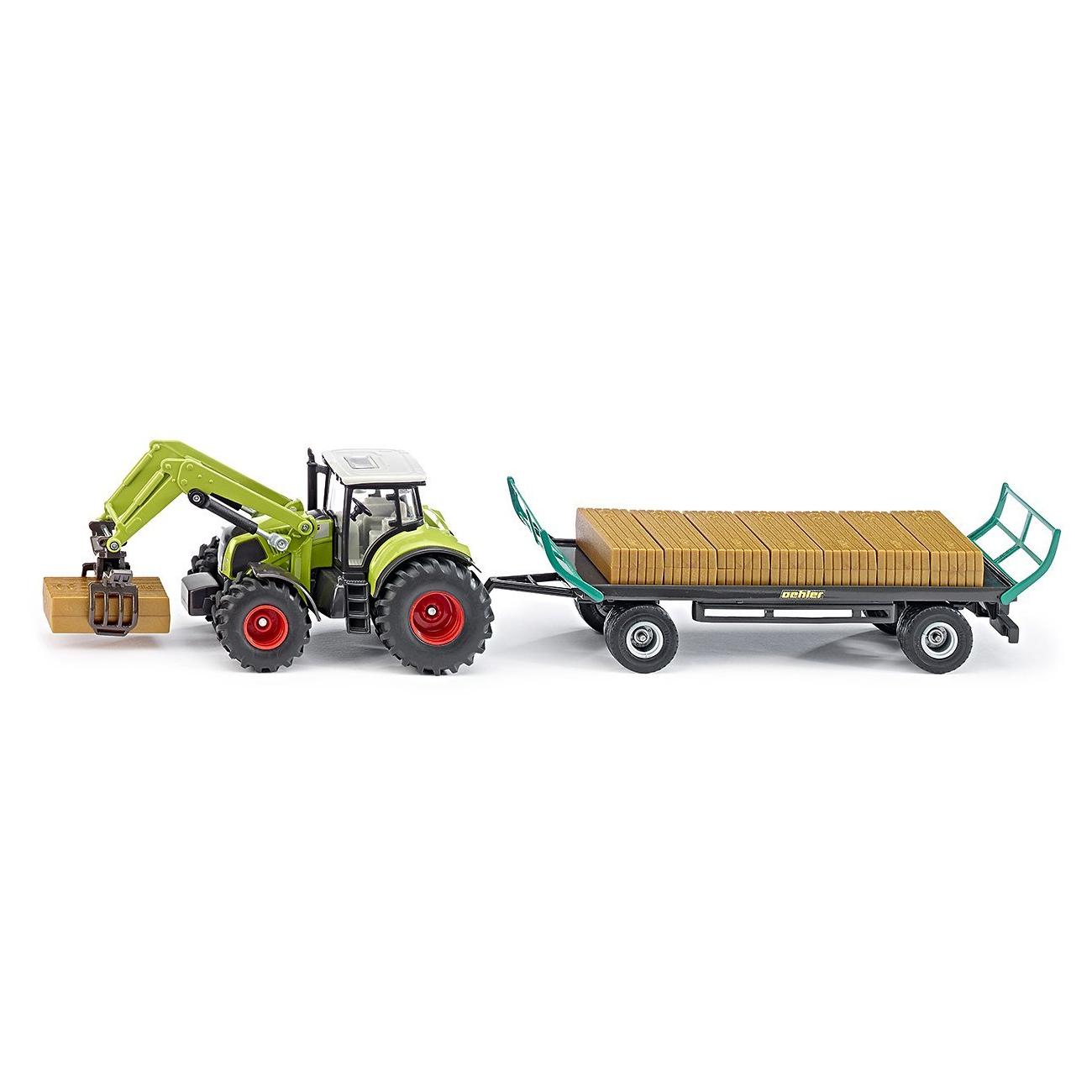 Купить Игрушечная модель - Трактор с захватом и прицепом, 1:50, Siku