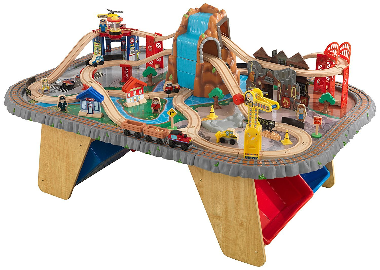 Купить Игровой набор - Горный тоннель Waterfall Junction Train Set & Table, KidKraft