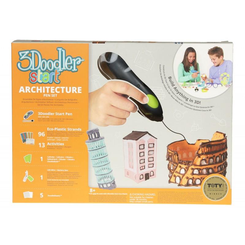 3Д Ручка 3Doodler Start, подарочный набор – Архитектор Limited, 3DS-ARCP-MUL-R) - Детский 3D принтер QIXELS, артикул: 174467