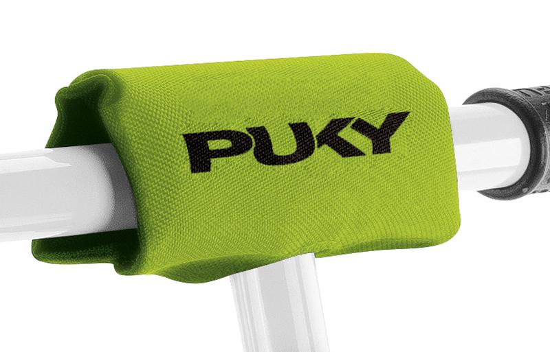 Защитная подушка на руль для беговелов и самокатов Puky LP 2 Kiwi, салатовая фото