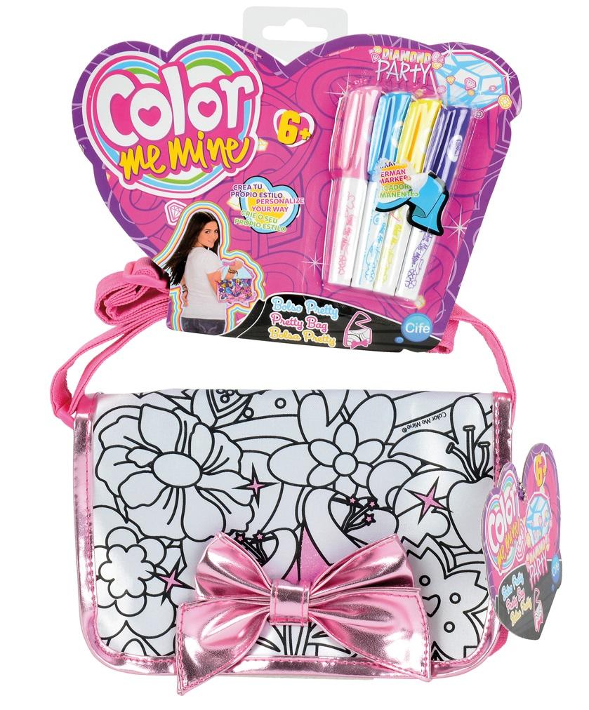 Сумочка-раскраска Алмазный блеск с бантикомСумки и  рюкзачки Simba Color Me mine<br>Сумочка-раскраска Алмазный блеск с бантиком<br>