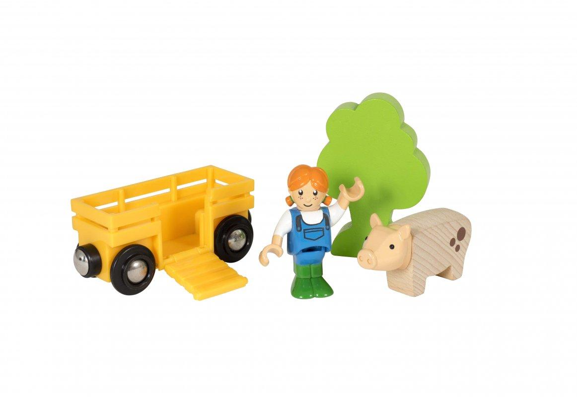 Игровой набор - Девочка на ферме 4 элемента.