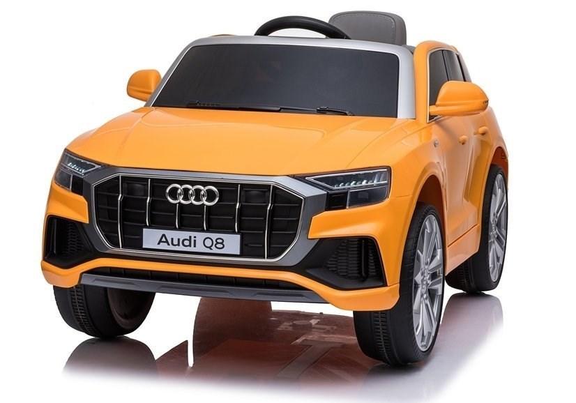 Электромобиль джип Audi Q8, оранжевый