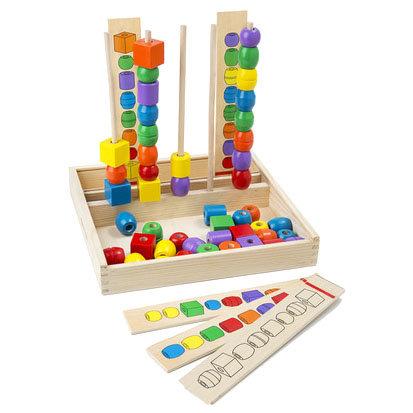 Набор бусин - Формы и цвета из серии Первые игрушкиРазвивающие центры<br>Набор бусин - Формы и цвета из серии Первые игрушки<br>