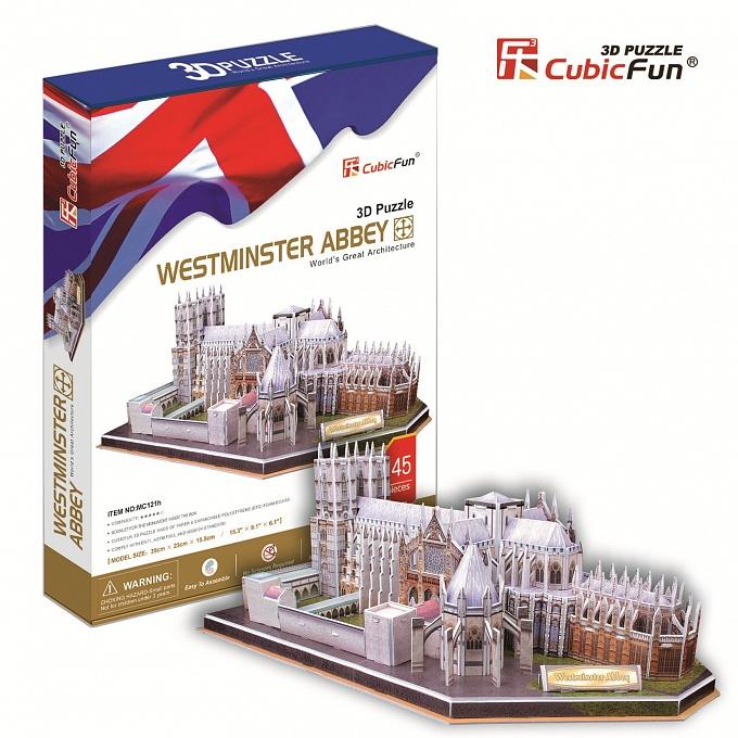 Купить Объёмный пазл серии Великобритания, Вестминстерское аббатство, Cubic Fun