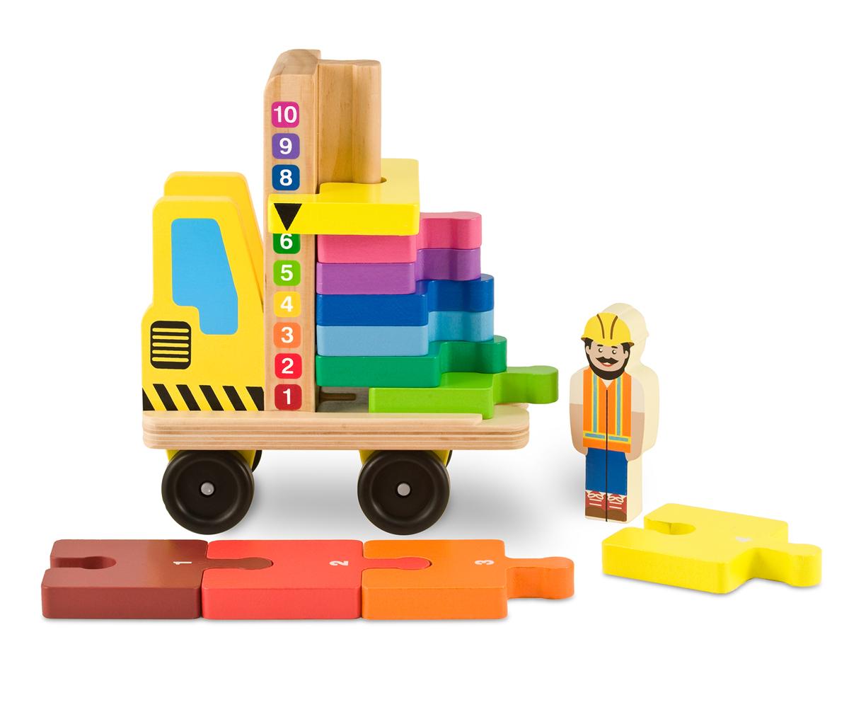 Melissa&Doug Машинка погрузчик из серии Деревянные игрушки