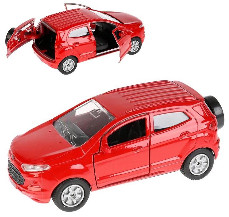 Купить Модель Ford Ecosport красный, 12 см, открываются двери, инерционный -WB), Технопарк