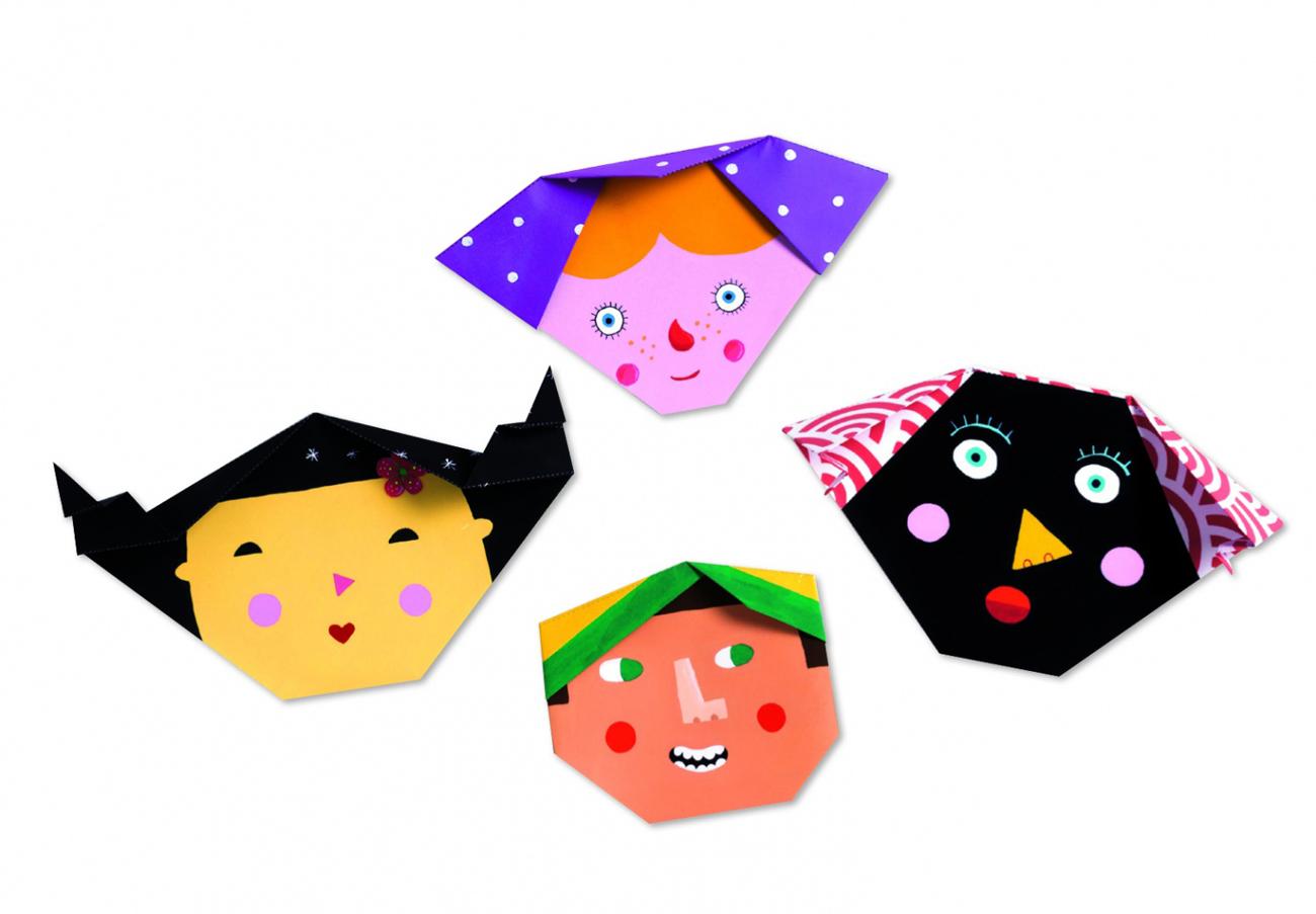 Оригами картинки для детей, мультяшных