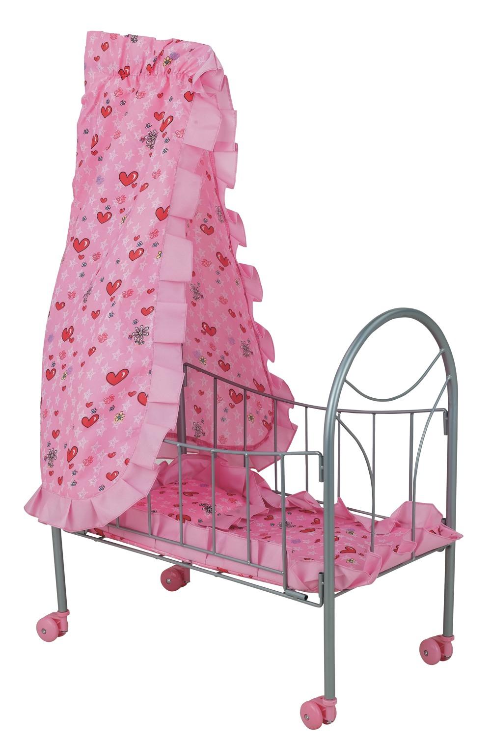 Кроватка для кукол с балдахином - Детские кроватки для кукол, артикул: 8662