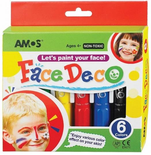 Грим-мелки 6 цветов, в картонной упаковке с европодвесомГрим для лица и тату<br>Грим-мелки 6 цветов, в картонной упаковке с европодвесом<br>
