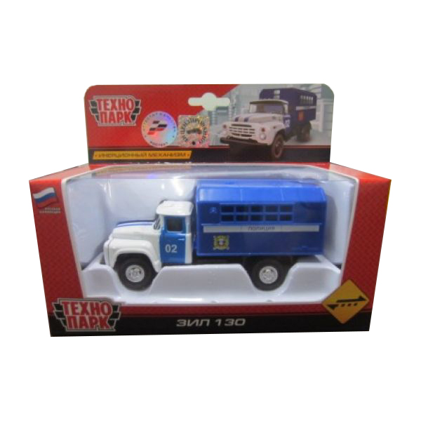 Металлическая инерционная машина ЗИЛ 130 - Будка ПолицияПолицейские машины<br>Металлическая инерционная машина ЗИЛ 130 - Будка Полиция<br>