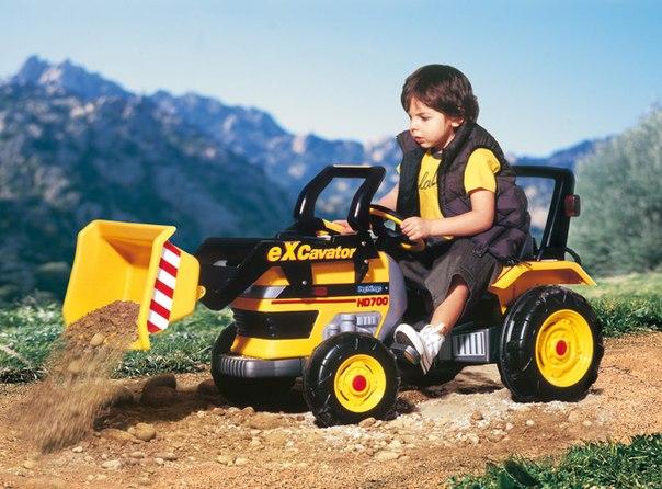 Экскаватор с педалями Peg-Perego Maxi Excavator D0552 - Педальные машины и трактора, артикул: 28800